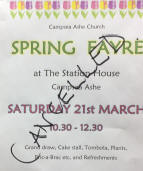 Campsea Ashe Spring Fayre cancelled