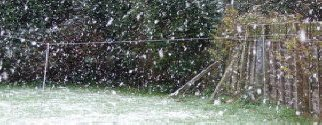Heavy snow in Leiston ~ pic by Deano