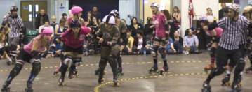 London Roller Girls versus Birmingham Blitz Derby Dames