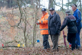 Judge and spectators at Butley motorcycle trial 2018
