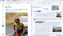 Browser windows side by side