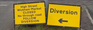 Wickham Market diversions